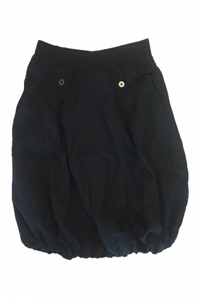 Hardtail Slash Pocket Parachute Skirt Black