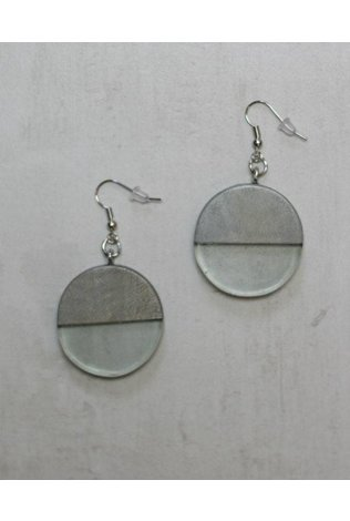 Sylca Silver Wood and Resin Earrings