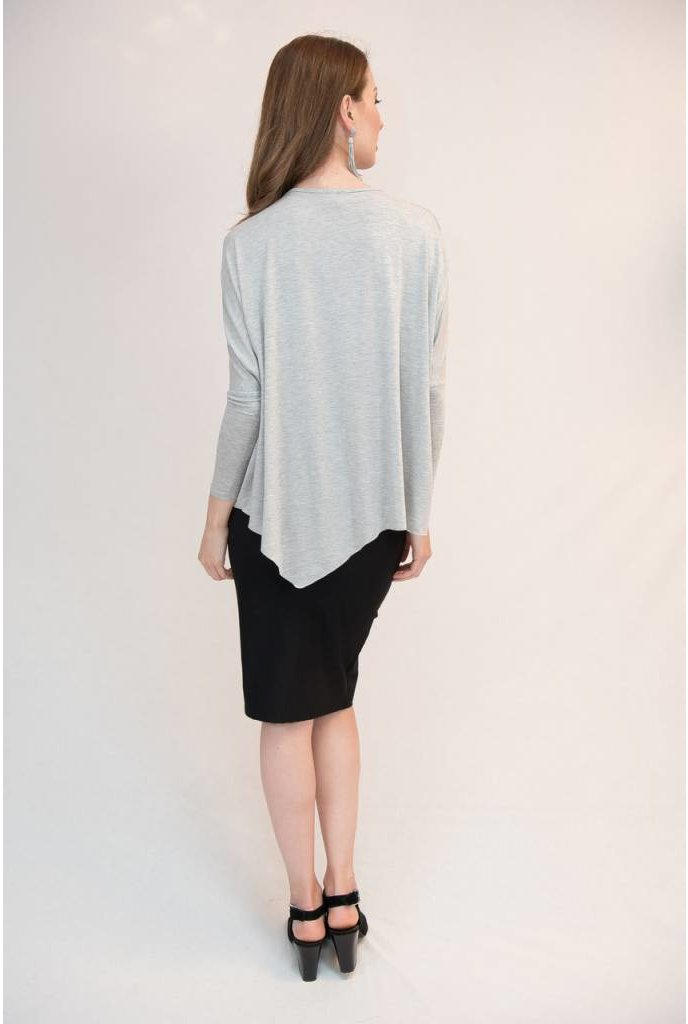 Mayas Place Eden Top Heather Grey