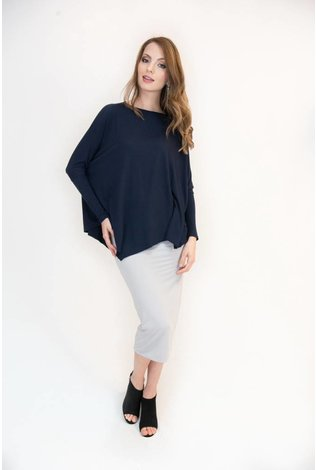 Mayas Place Eden Top Navy
