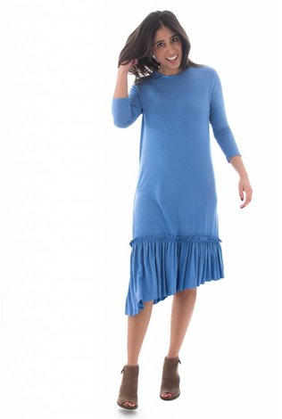 Mayas Place Lilly Dress Deep Blue