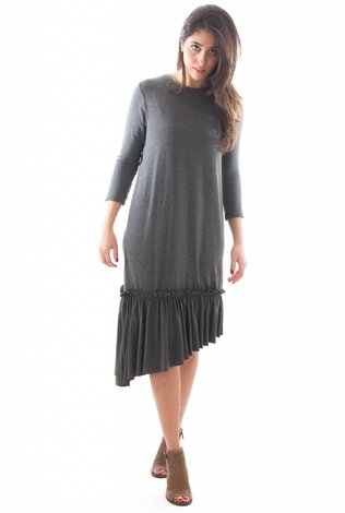 Mayas Place Lilly Dress Charcoal