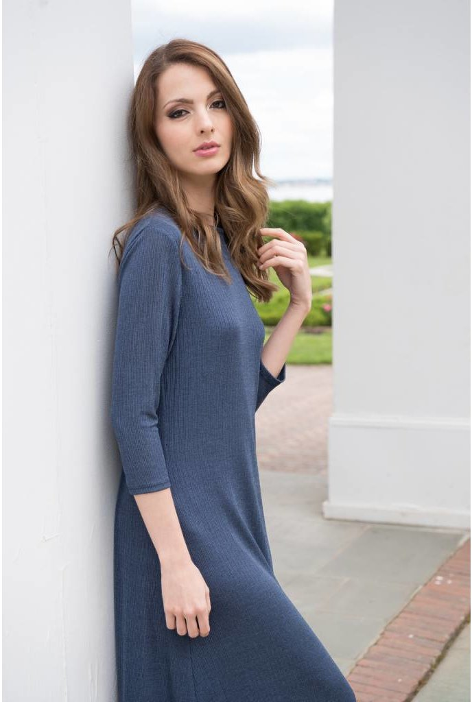 Mayas Place Oliva Dress Blue