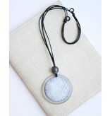 Sylca Grey Pearlescent Pendant Necklace