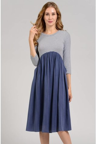 Sheek Rena Dress Blue