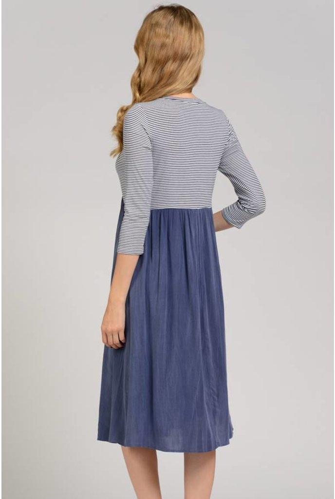 Sheek Rena Dress Blue