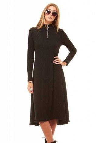 Bella Donna Zipper Neck Dress