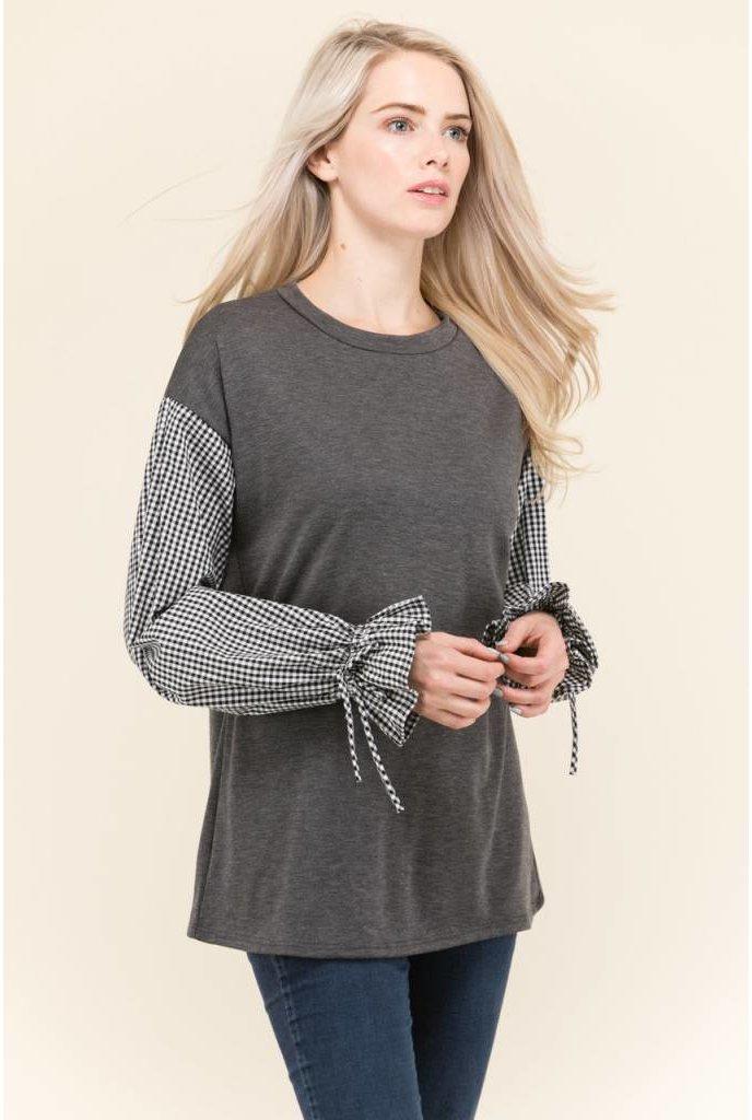 Sheek Gingham Sweatshirt