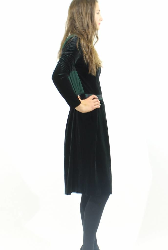 MW Velvet Combo Dress