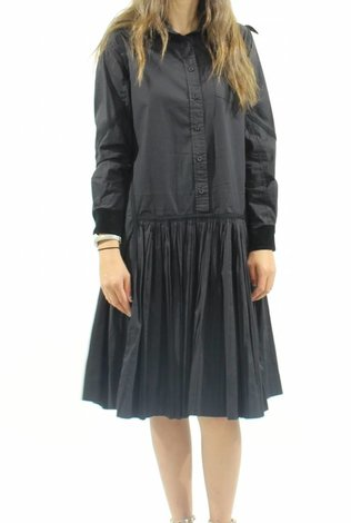 MW Velvet Collared Shirt Dress