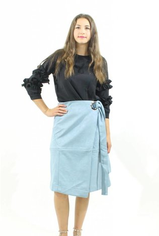 MW Suede Wrap Skirt