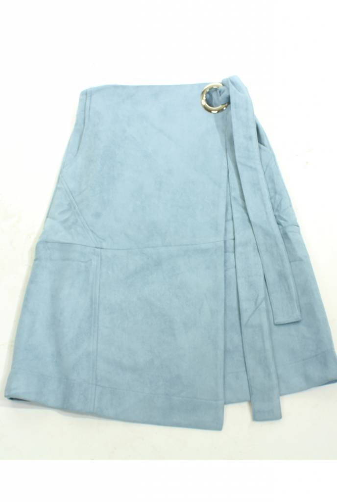 MW Suede Wrap Skirt