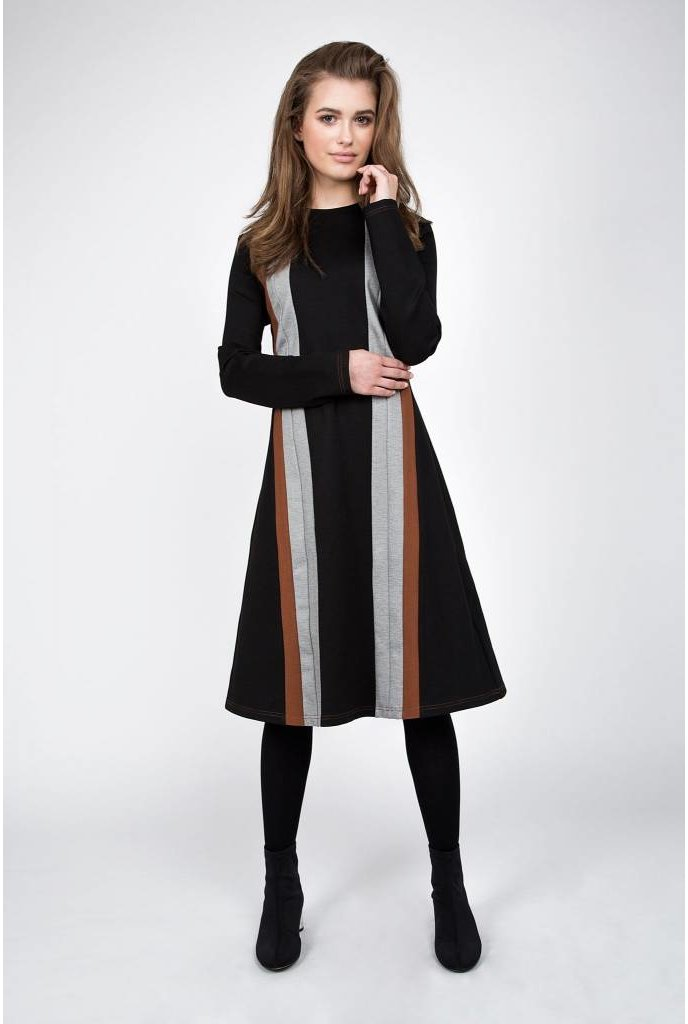 Maple and Cliff The Stripe Line Dress