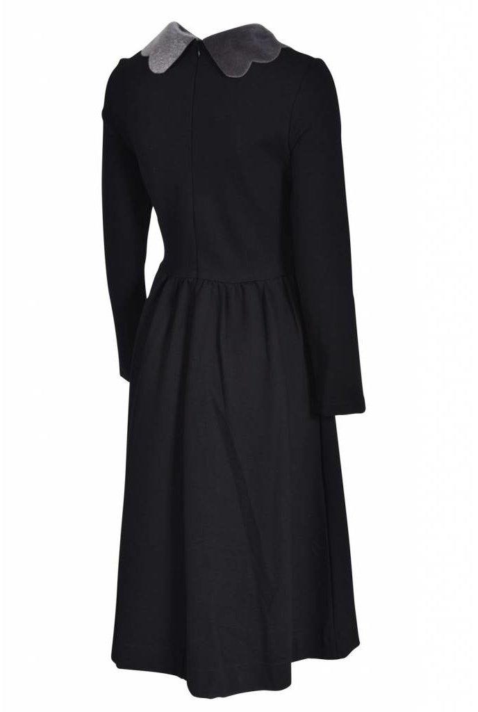 Ruby Fur Collar Dress