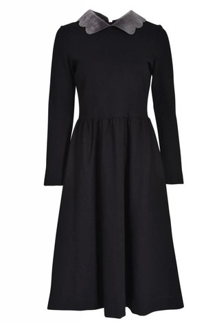 Ruby Fur Collar Dress
