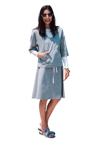 space Space Two Piece Outfit Gray