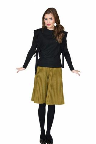 HoneySeed Khaki Pleated Skirt