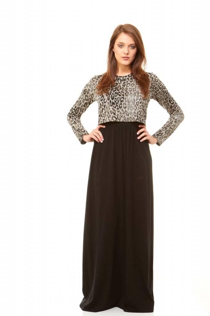 Bella Donna Crop Top Maxi Leopard