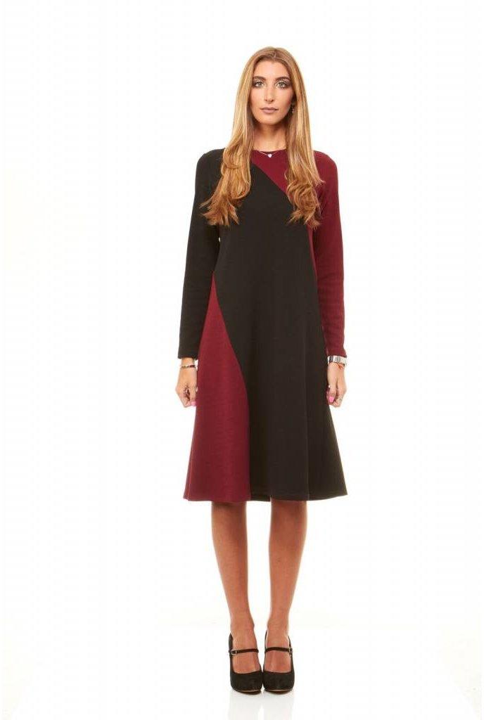 Bella Donna Color Block Crepe Dress