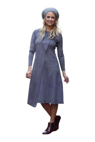 Ricciel Suede Wrap Dress