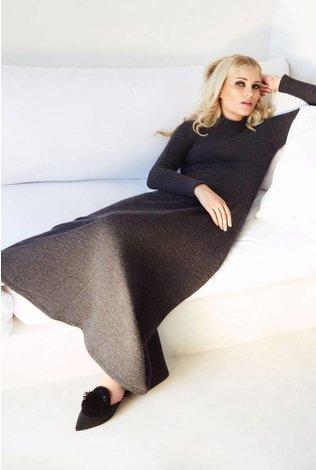 Pashmina Sweater Maxi with High Neck