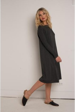 Third Ribbed Combo Swing Dress