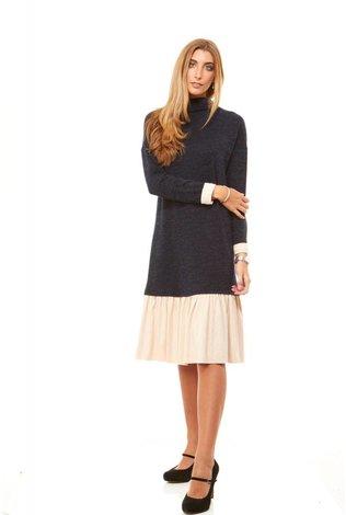 Bella Donna Sweater Dress With Ruffle Hem