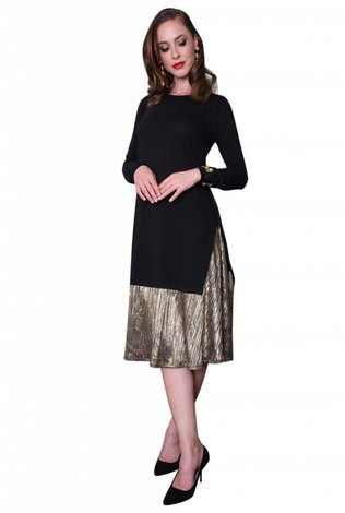 Morelle Gold Foil Tunic Dress