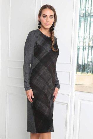 Go Couture Digital Plaid Dress