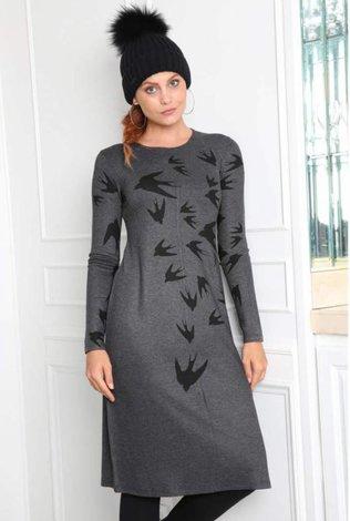 Go Couture Digital Bird Dress