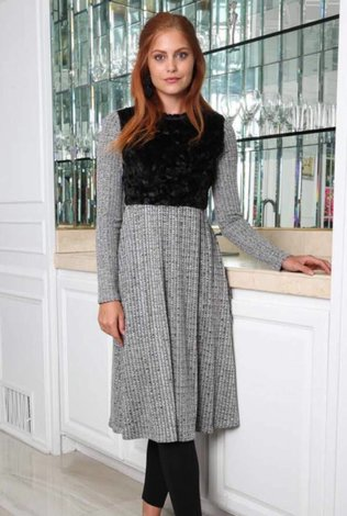Go Couture Cuddle Fur Dress