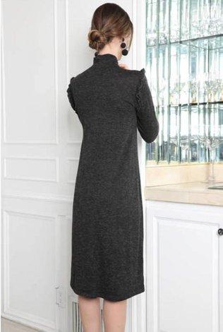 Go Couture Mini Ruffle Sweater Dress