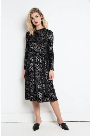 Third Cheetah Velvet Swing Dress