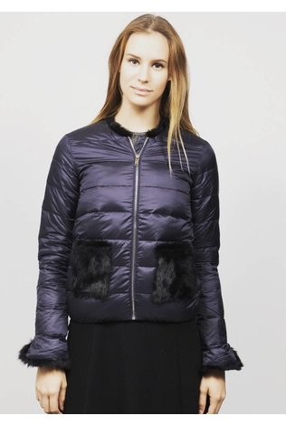 HERRMOS Down Jacket With Fur Pockets