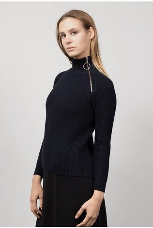 HERRMOS Turtleneck Zipper Sweater