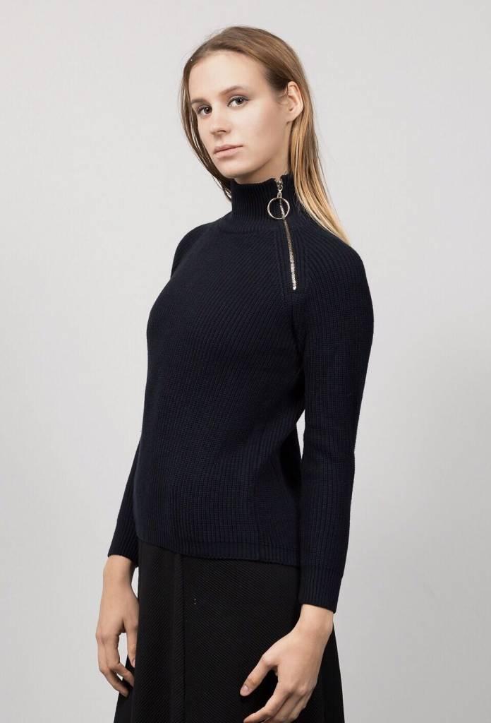 HERRMOS Turtleneck Zipper Sweater