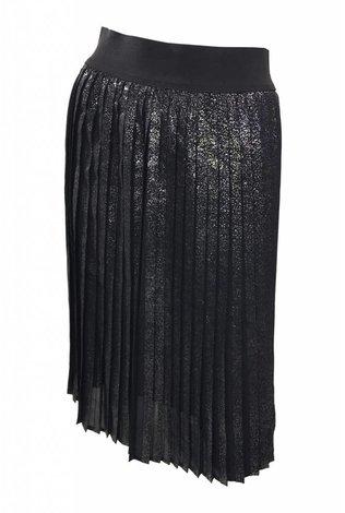 Accordian Pleat Silver Splatter Skirt