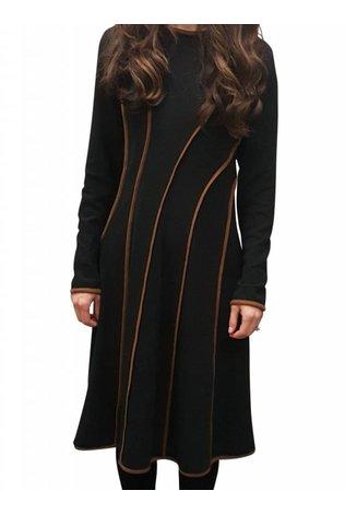 edit Contrast Lines Dress- Flash sale!