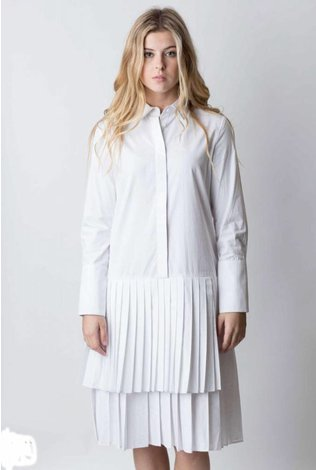 Pleat Bottom Shirt Dress- See more colors!