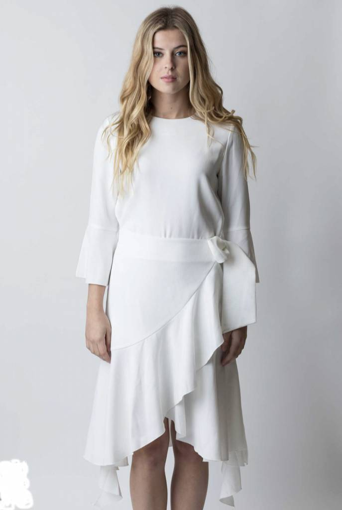 Ruffle Belted Dress