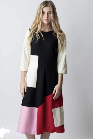 Square Color Block Dress
