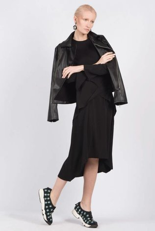 Ruti Horn Crepe Midi Black- Limited Addition
