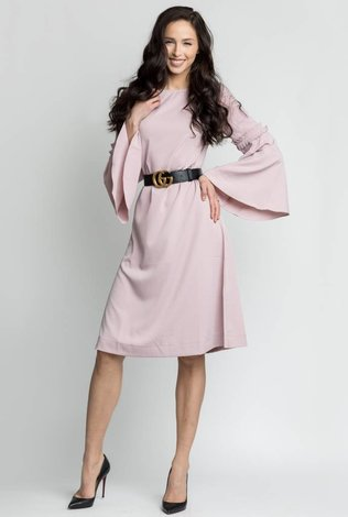 Bliss Bell Sleeve Dress Mauve
