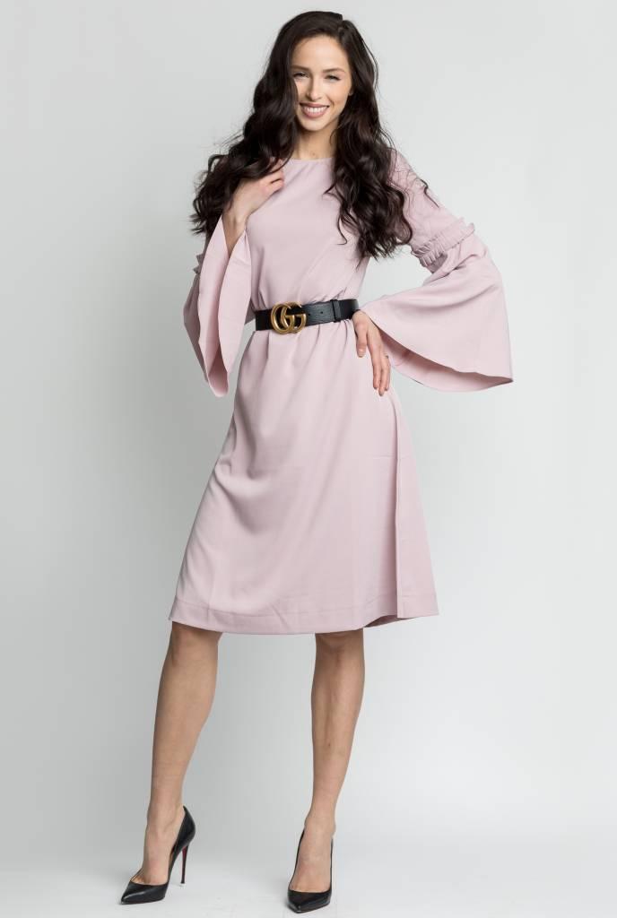 Bliss Bell Sleeve Dress Mauve
