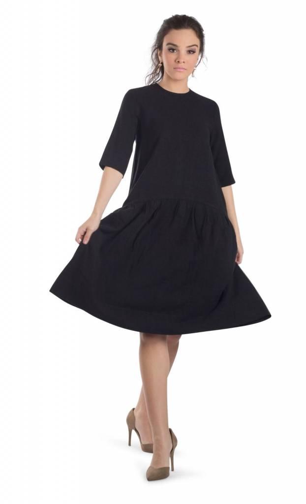 Deela Black Linen Dress