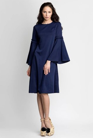 Bliss Bell Sleeve Dress Navy