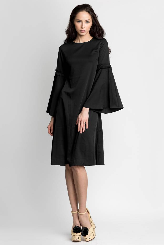 Bliss Bell Sleeve Dress Black