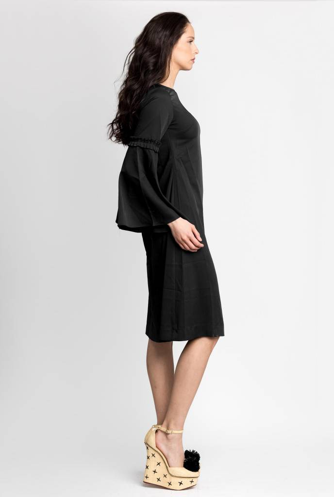 Bliss Bell Sleeve Dress Black
