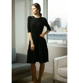 Apparalel Black Sparkle Tiered Jersey Dress