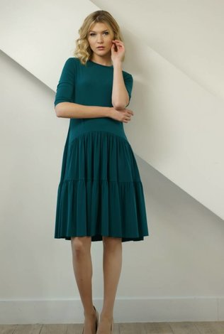 Apparalel Tiered Jersey Dress